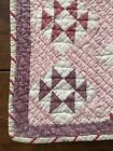 Old Antique Handmade Large Childs Calico Quilt Textile AAFA