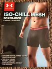 """NEW Under Armour Mens ISO-CHILL Mesh 6"""" Boxerjock Boxer Brief, Black 3XL New"""