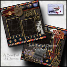 Disney Hollywood Tower Hotel 2 premade scrapbook pages drop of terror By Cherry