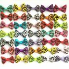 10 500pcs Handmade Pet hairpins puppy Hair Clips Dogs cat Bow Ribbon rubber band