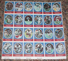 1972 Sunoco Football Stamp Sheet Houston Oilers Card 24dif New Player Update