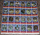 1972 Sunoco Football Stamp Sheet NY New York Giants Card 24dif New Player Update