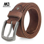Top Cowboy Leather Mens Pin Buckle Belt Vintage Luxury Mens Jeans Belt Full Us