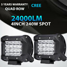 Quad Row 4 7 9 12 20 23inch Led Light Bar Spot Flood Offroad Jeep Atv 18w