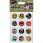 Pepperell 75 Gel Stickers For Paracord Charms  Buckles 12 Pkg Sassy