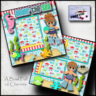Under The Sea ocean beach 2 premade scrapbook pages paper piecing Printed Cherry