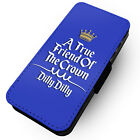 True Friend To The Crown - Printed Faux Leather Flip Phone Case #2