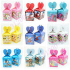 6pcs/lot Candy Box Cartoon Children Birthday Party Boy Girl Supplies Favor Gift