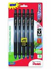 Pentel EnerGel X Retractable Liquid Gel Pen 07mm Metal Tip Medium Black NEW