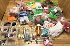 Large Lot Over 4 Lbs of Beads Resin Plastic Crafters Kit NOS