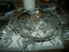 Glass Punch Bowl Set Vintage Grape Design Anchor Hocking 26 peice set