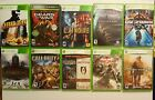 Lot of 10 - X BOX 360 Games.  Rated M & T -  Call of Duty Crackdown, 10 Games