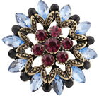 Gold Plated Blue Pink Rhinestone 20mm Snap Charm For Ginger Snaps Magnolia Vine