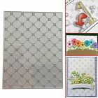 Grid Background Metal Cutting Dies Stencil Scrapbook Embossing Paper Card Craft