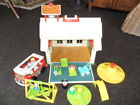 VTG Fisher Price Little People 1970s Family School House BUS PLAYGROUND MORE