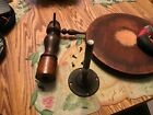 Vtg Victorian Wood Piano Stool Adjustable Seat Glass Ball Claw Feet