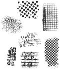 Stampers Anonymous Tim Holtz Cling Stamps 7X85 Ultimate Grunge