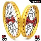 KKE 21/19 Mx Casting Wheels Rims For HONDA CRF250R 2014-2020 CRF450R Red Gold