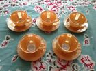 Saucer Set Of 5 Coffee Mugs Tea Cups