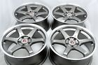 18 gunmetal Wheels Sienna Solara Outback G25 300ZX 350Z WRX Element Rims 5x1143