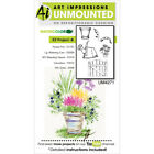 Art Impressions Watercolor Cling Rubber Stamps 4X7 EZ Project A