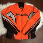 Harley Davidson Large Motorcycle Vented Reflective Logo Spellout Authentic Bike