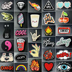 Embroidered Iron On Sew On Patch DIY Lace Fabric Badge Bag Clothes Applique