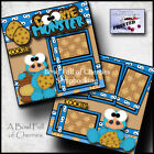 Cookie Monster 2 premade scrapbook pages printed paper piecing layout By Cherry