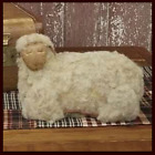 NEW Large Primitive Country Vintage Wooly Figurine Farmhouse