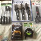 Pittsburgh Lot of HomeTools ScrewdriverTape Measure Brushes HeadLamp Scissors