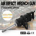 1 Air Impact Wrench Gun Long Shank Heavy Duty Commericial Truck Mechanics Ca
