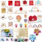 3D Pop Up Card Invitation Greeting Cards Xmas Happy Birthday Lovely Gifts Exotic