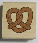Stampabilities Wood Mounted Rubber Stamp PRETZEL Carnival Movie food