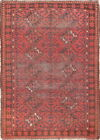 Pre1900 Traditional Vintage Antique 3x5 Wool Balouch Oriental Area Rug Carpet