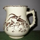 Aesthetic Brown Transferware Pitcher 4 1/2
