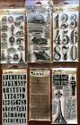 NEW Tim Holtz Stampers Anonymous Cling Stamps + Blocks GREAT LOT GREAT DEAL