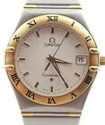 Beautiful Mens Omega Constellation Quartz Watch 18k Gold and Stainless Steel