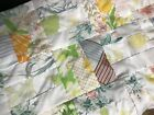 Vintage Pillowcase Quilt Top Very Light Colors 6 In Strip Block 54 X 7