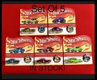 Hot Wheels 50th Anniversary Redline Set Of 5 CamaroMustangBeetle 2018