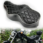 DriverPassenger TWO UP Seat For Harley Iron Sportster XL883 04 18 Leather Black