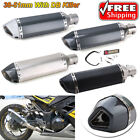 Universal Motorcycle Bike Exhaust Muffler Pipe With DB Killer Slip On 38 51mm US