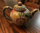 V8ntage Chinese Cloisonne and Enamel Peony Teapot