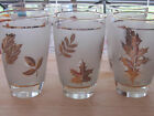 Vintage Libby Frosted Gold Leaf Tea Water Glasses Set of 6 Fall glassware