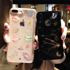 Shockproof Bling Cute Star Clear Case Soft Rubber Cover For iPhone X 8 7 6s Plus