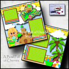 Sand Castles Beach girl 2 premade scrapbooking pages prints paper piecing Cherry