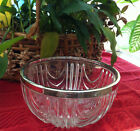 Vintage serving bowl Silver Plated rim Made in England