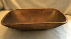 Antique Carved Wood Trencher Dough Bowl, 19