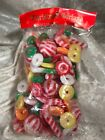 Vintage Sugared Candy Plastic Christmas Garland