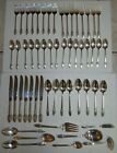 55 PC ROGERS BROS FIRST LOVE SILVERPLATE FLATWARE SET (8 LARGE SERVING PIECES)