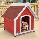 Wood Dog House Large Pet Shelter Kennel Weather Resistant Home Outdoor